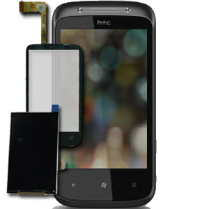HTC 7 Mozart Glass / Touch Screen & LCD Replacement