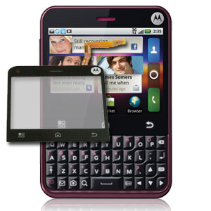 Motorola Charm Glass/Touch Screen