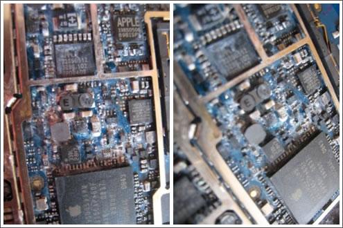 iPhone 3GS Logic Board water damaged