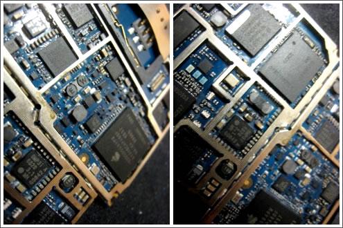 iPhone LogicBoard revocered afyer water damage treatment